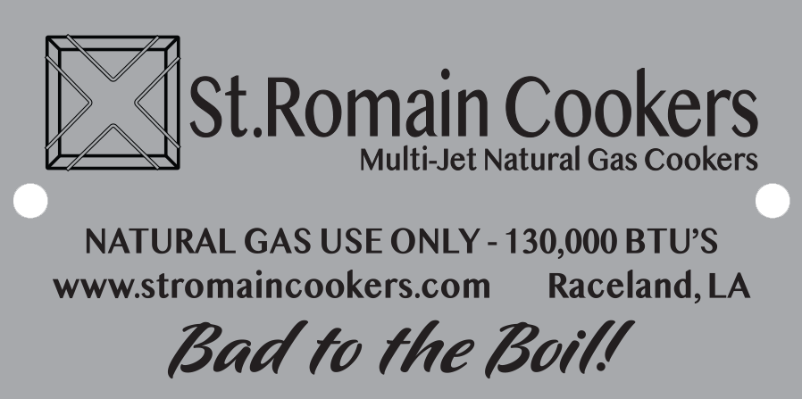 The St. Romain Cooker - The Original Multi-Jet Natural Gas Burner